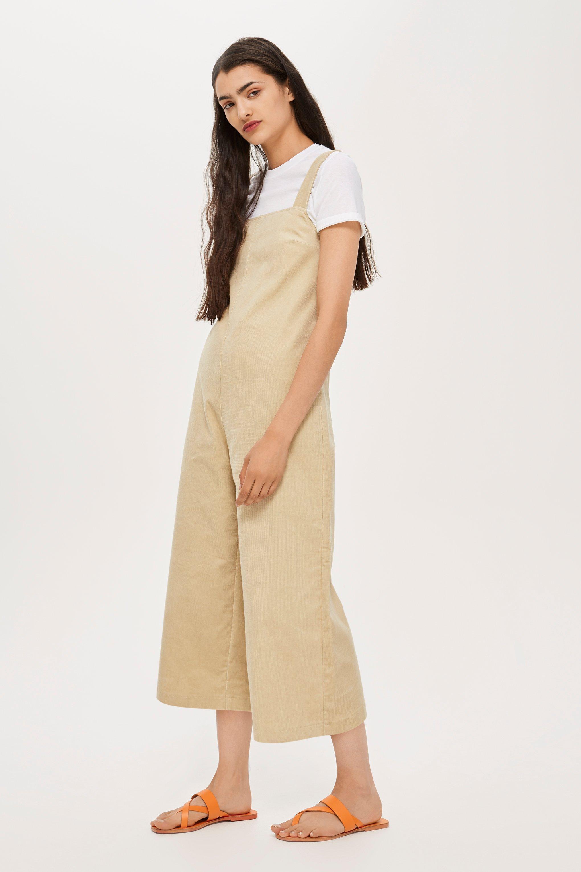 87c1d0542e7059 Combi-pantalon salopette en velours côtelé, NC TOPSHOP en coloris Natural