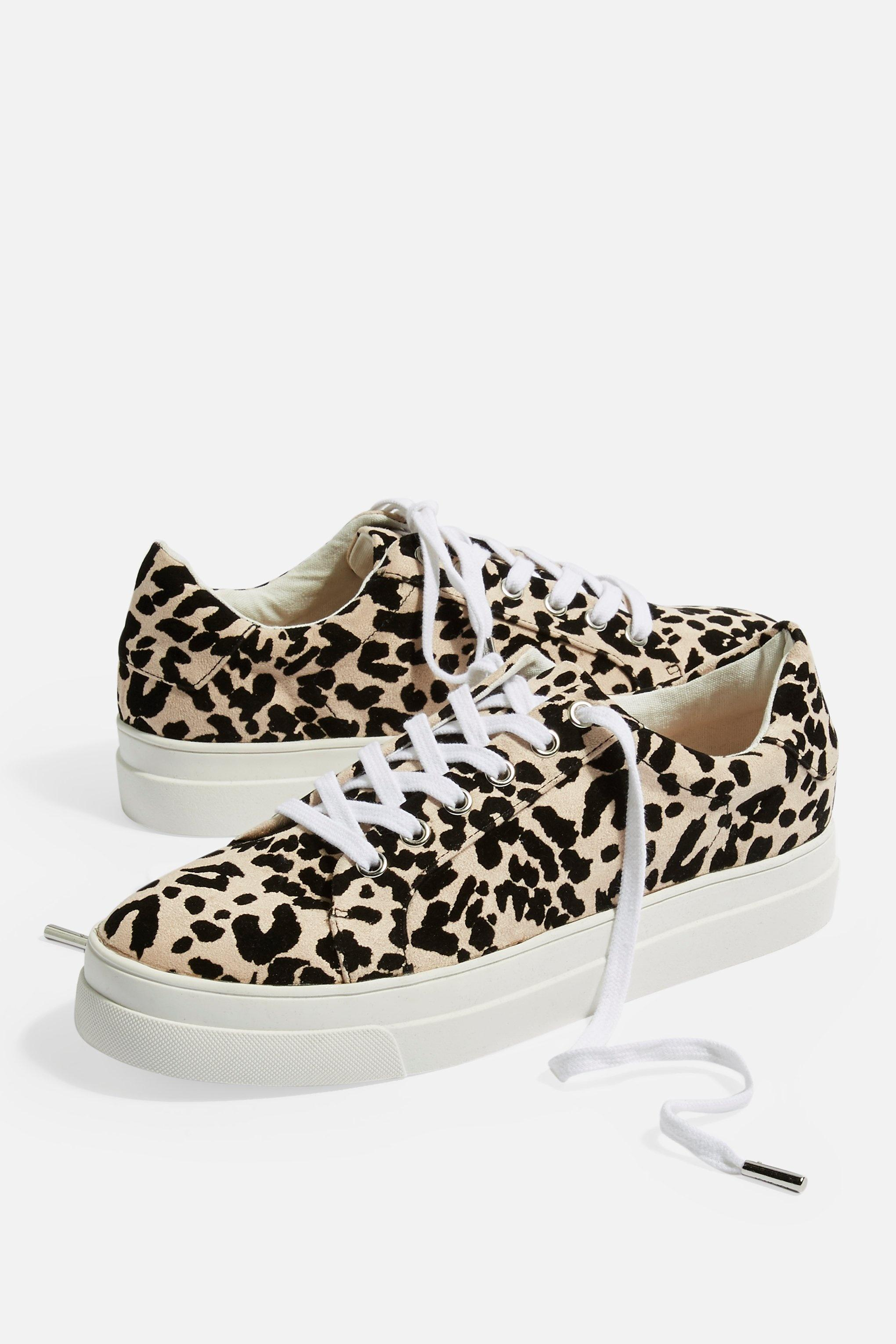 TOPSHOP Candy Lace Up Trainers - Lyst