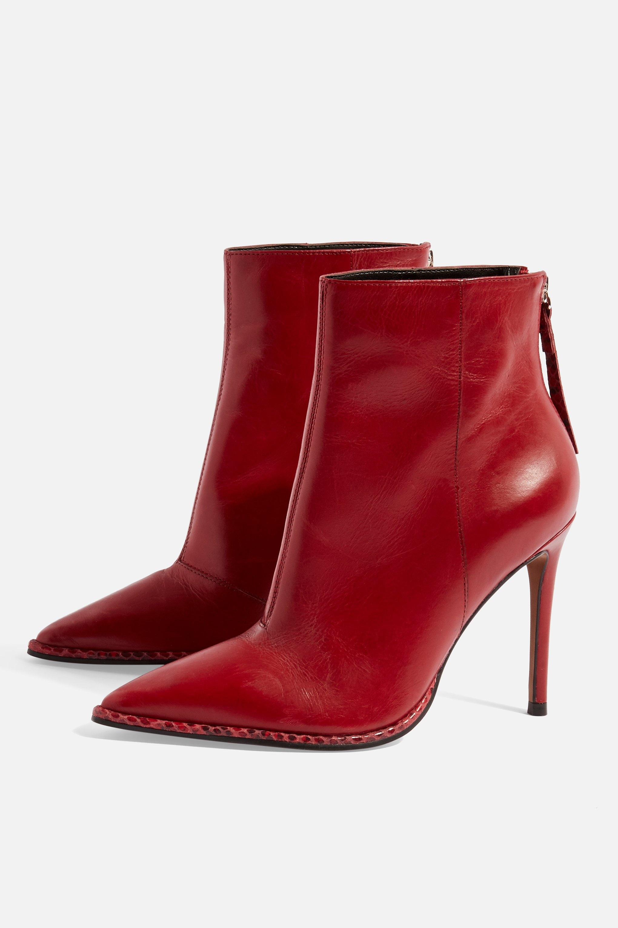 latest professional sale best TOPSHOP Red Harper High Ankle Boots