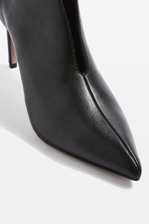 b5c8e247e3a TOPSHOP Hale Deep Cut Boots in Black - Lyst