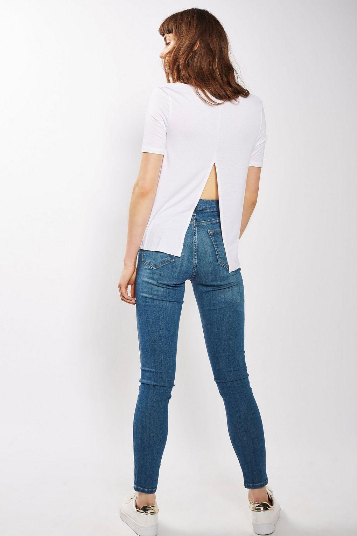 TOPSHOP Denim Authentic Blue Jamie Jeans