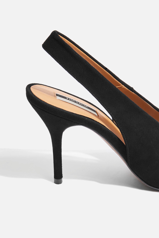 945dcb6399d Lyst - TOPSHOP Gail Slingback Shoes in Black