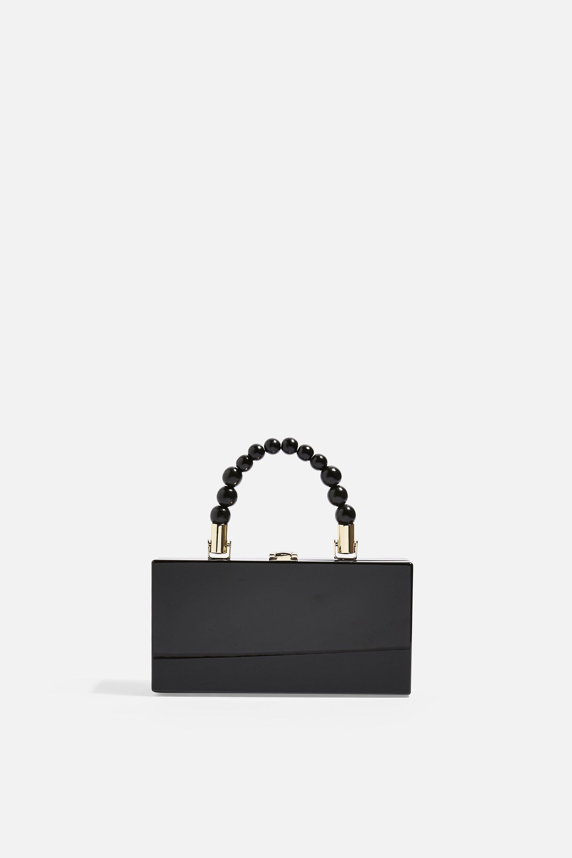 65c074971 Lyst - TOPSHOP Gina Ball Boxy Grab Bag in Black