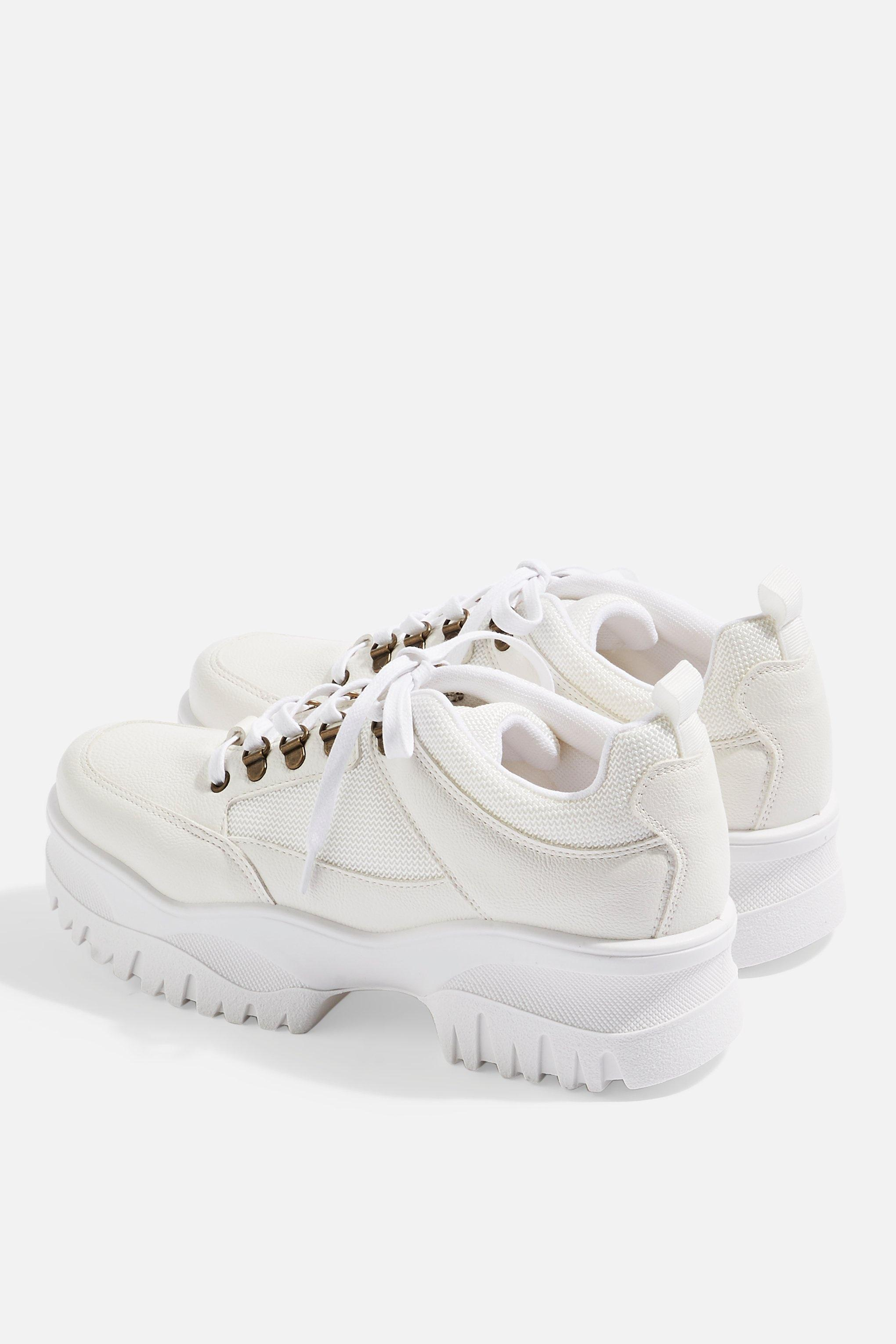 TOPSHOP Chomp Chunky Trainers in White