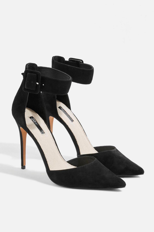 631b937d7a9 TOPSHOP Grace Ankle Strap Shoes in Black - Lyst
