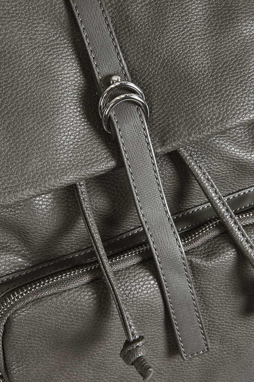 TOPSHOP Triple Pocket Backpack in Grey (Grey)