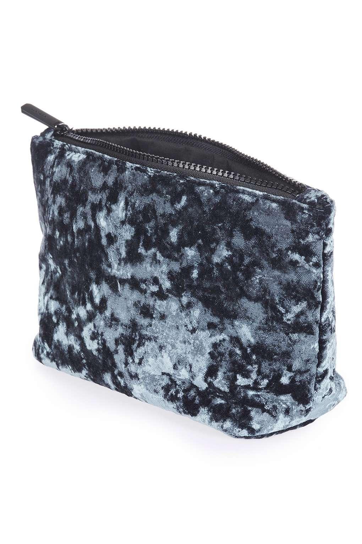 Lyst Topshop Velvet Makeup Bag In Blue