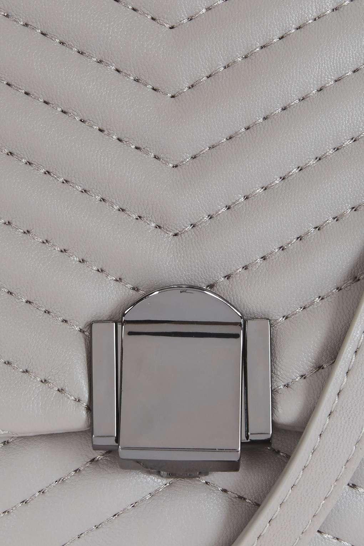 TOPSHOP Obi Quilted Crossbody Bag in Grey (Grey)