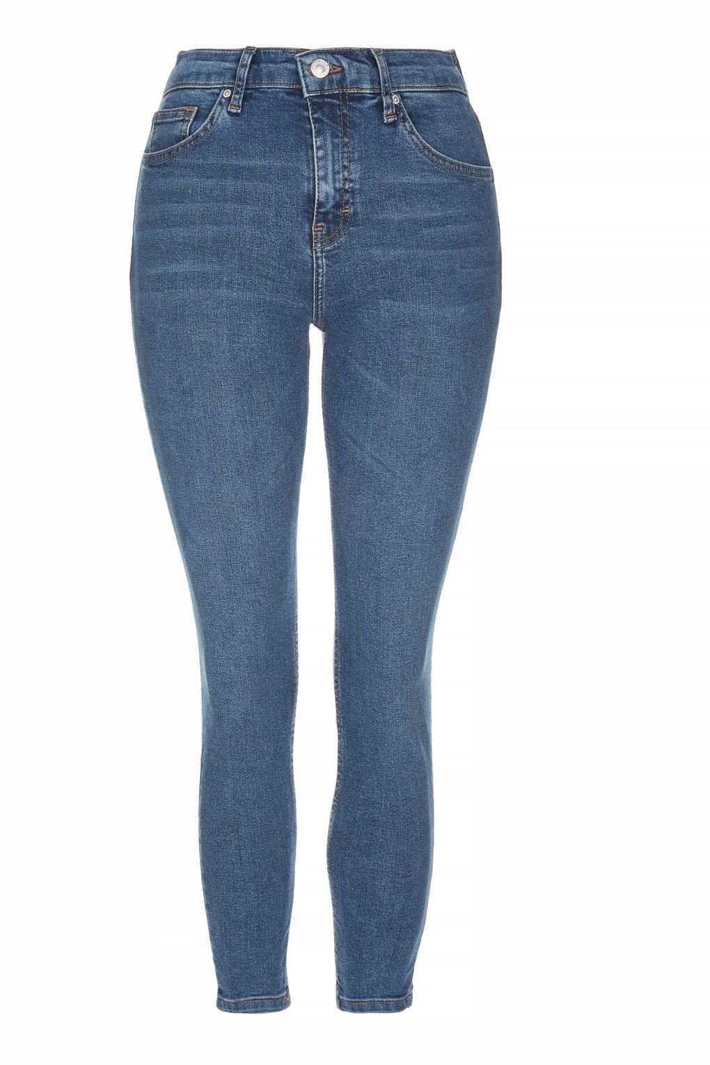 Topshop Petite Moto Hem Embroidered Jamie Jeans In Blue  Lyst