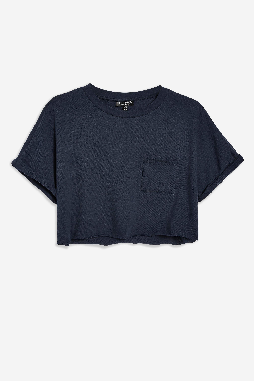 422fffe3250e ... Cut Off Cropped T-shirt - Lyst. View fullscreen