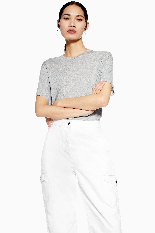 TOPSHOP Denim Weiße Cargo-Jeans von Boutique in Weiß m3Guy