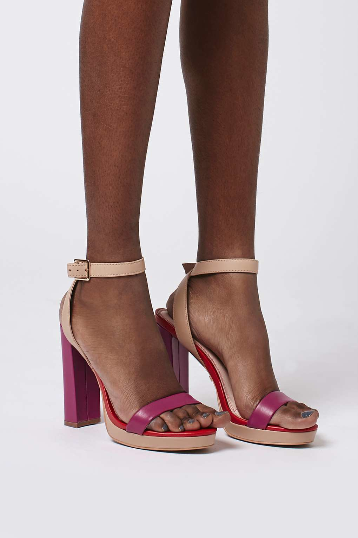 d2dfb4c64ec TOPSHOP Pink Luxury Slim Platform Sandals