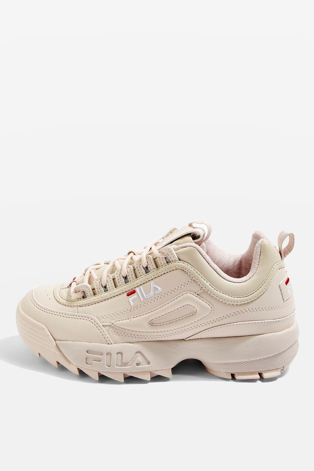 Topshop Disruptor Low Trainers By Fila In Pink Lyst