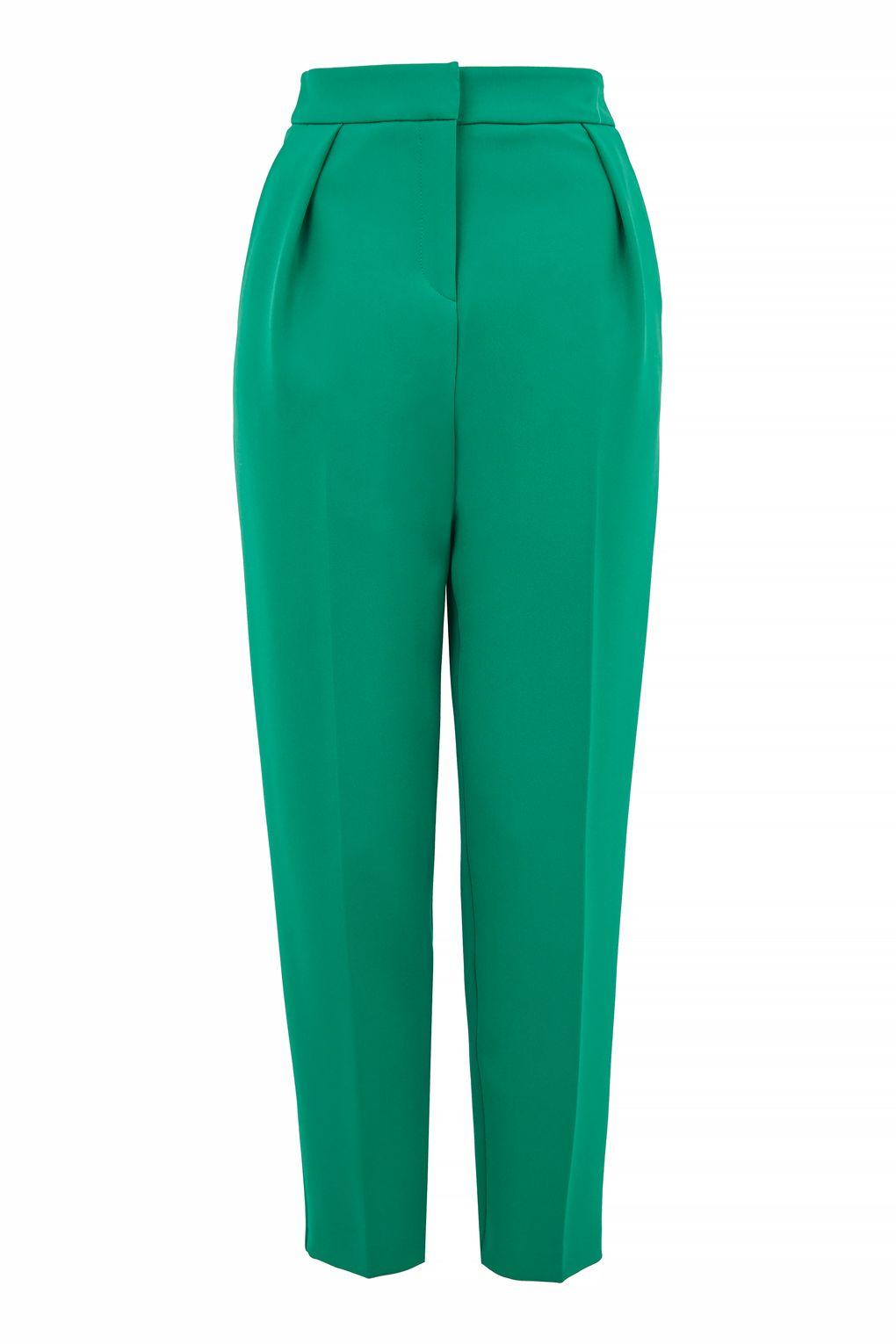 Topshop Peg Trousers In Green Lyst