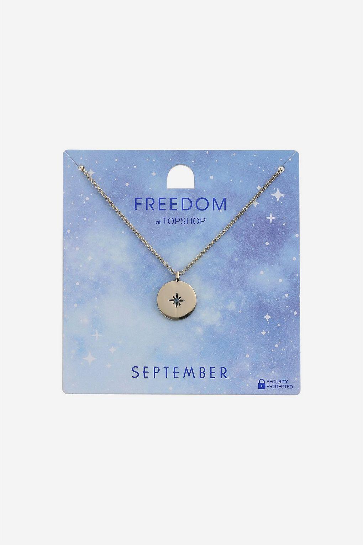 TOPSHOP September Birthstone Pendant in Gold (Metallic)