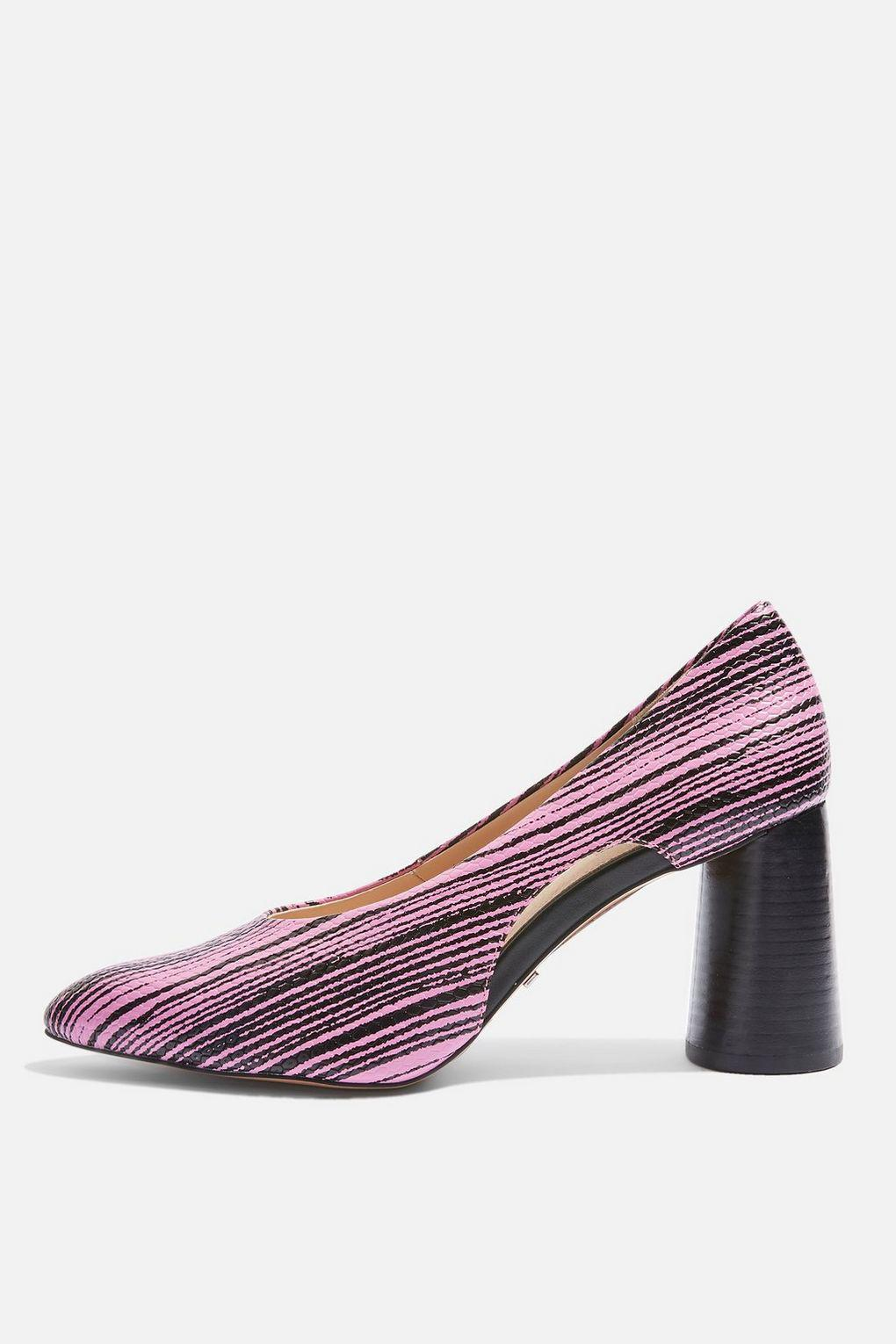 0c9ae59973eb Lyst - TOPSHOP Ginger Cutout Court Shoes in Pink