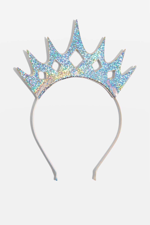 Topshop Holographic Tiara Crown In Metallic Lyst