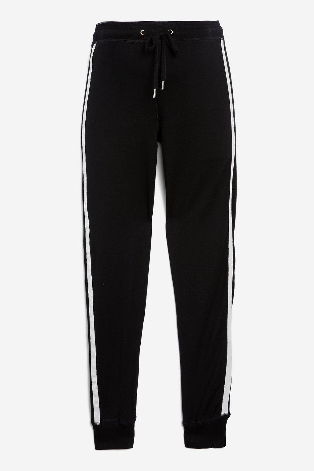 5179e26929bd3 TOPSHOP Maternity Side Striped Joggers in Black - Lyst