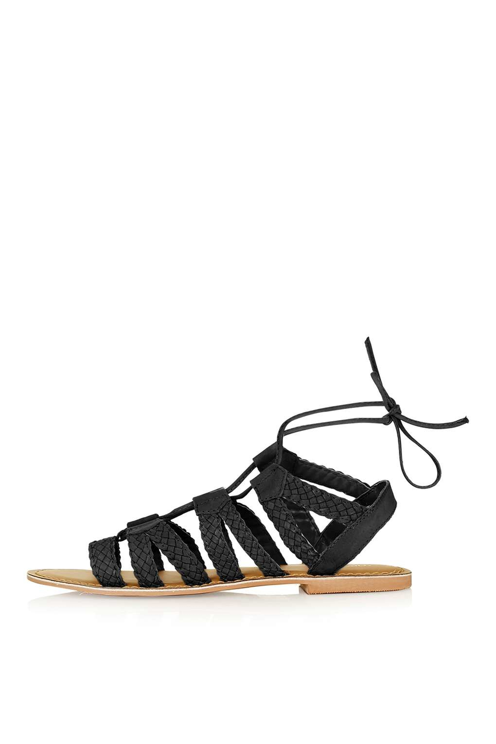 0373e3c9fe79ab Topshop Hiccup Weave Sandal in Black - Lyst