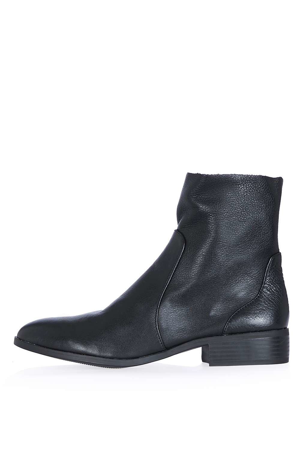 Topshop Black Suede Ankle Boots Size 42