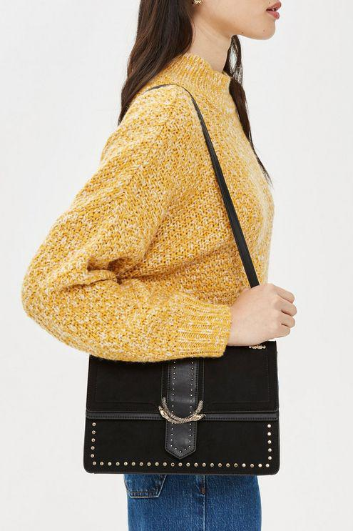 best online new high best price TOPSHOP Synthetic Suri Snake Print Shoulder Bag in Black - Lyst