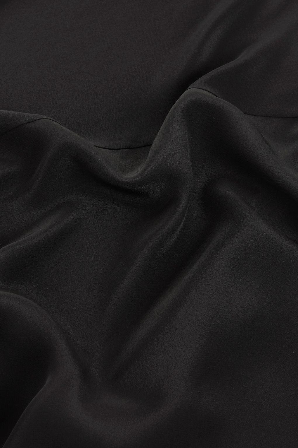 TOPSHOP Silk Knot Side Skirt By Boutique in Black
