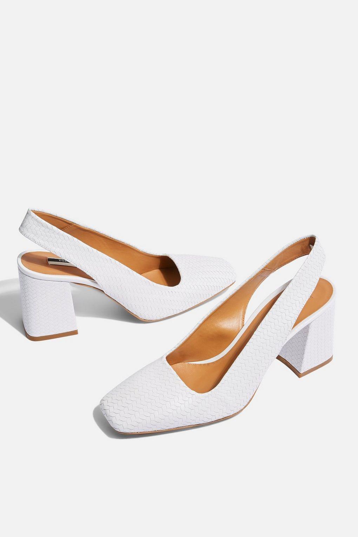 TOPSHOP Leather Gainor Slingback Heels