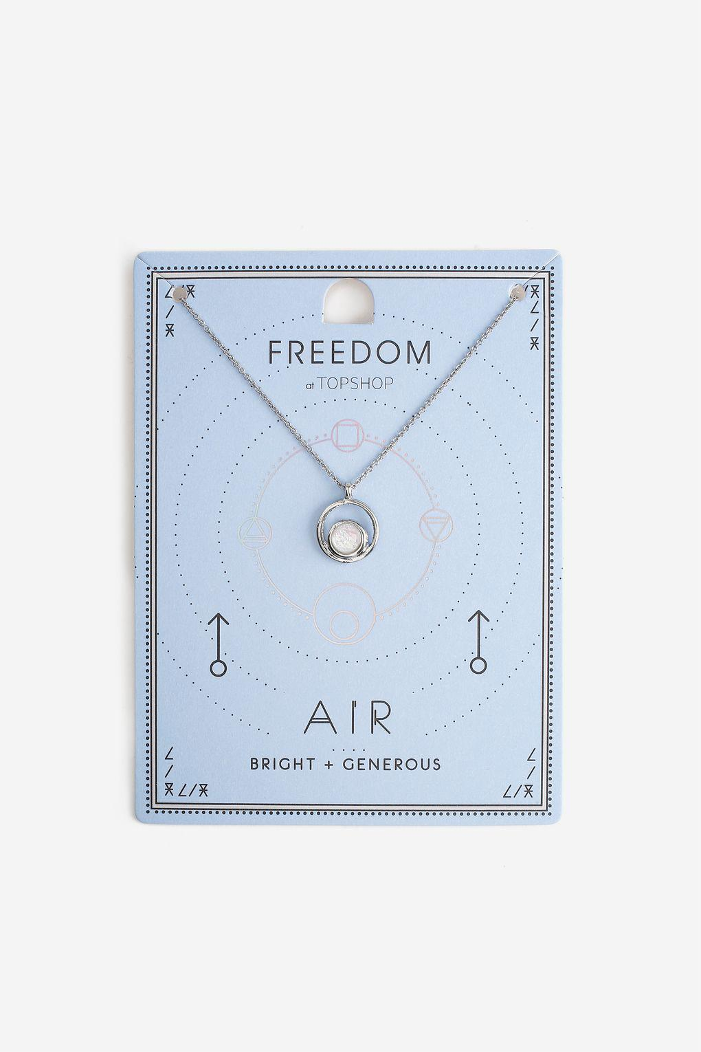 TOPSHOP Air Element Ditsy Necklace in White