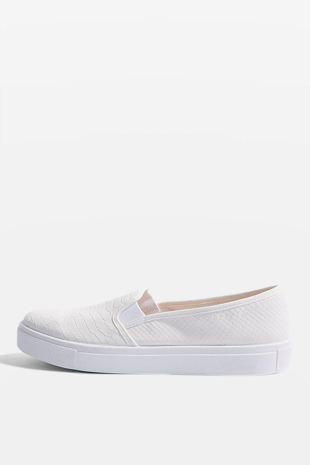TOPSHOP Tempo Slip On Trainers in White