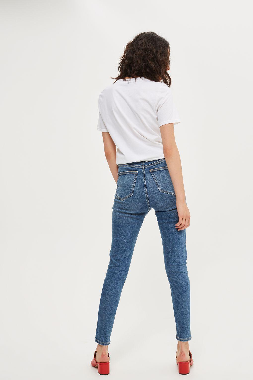 TOPSHOP Denim Tall Rich Indigo Jamie Jeans in Blue