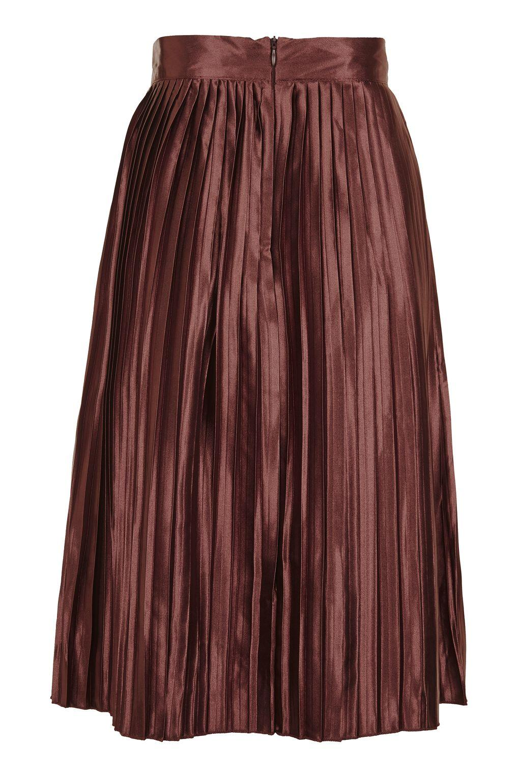 topshop high waisted pleated skirt by glamorous petites lyst
