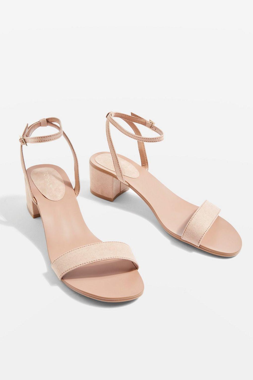 6d3d538dd26 Lyst - TOPSHOP Nude Darla 2 Part Block Heel Sandals in Natural
