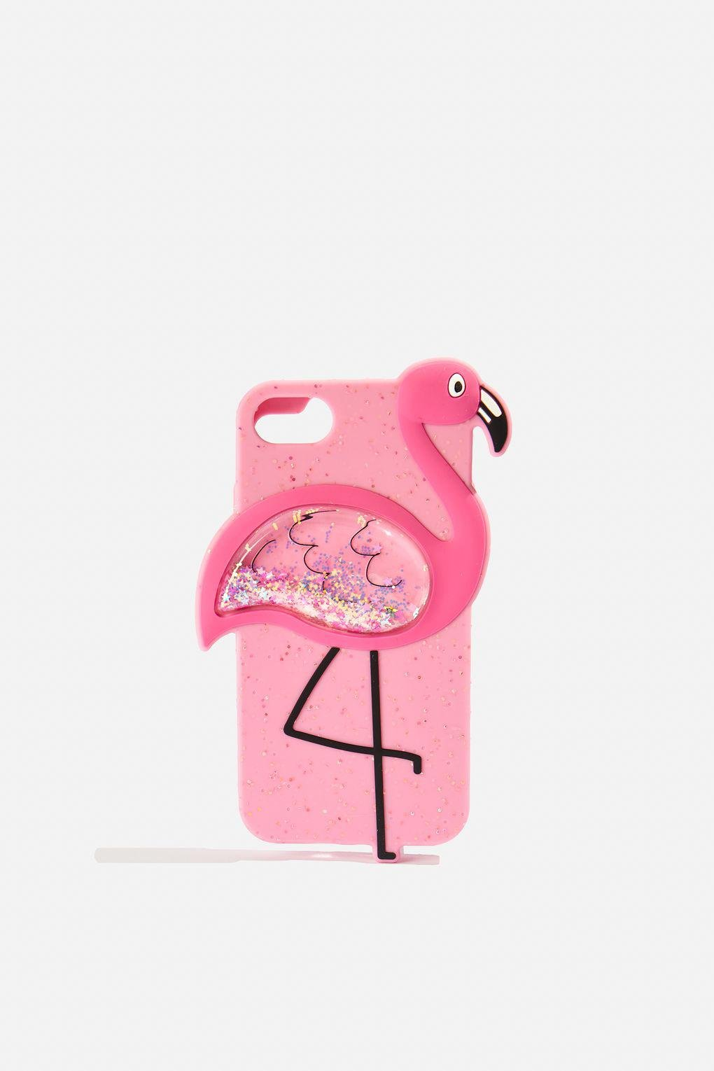 newest collection fc9b7 41368 TOPSHOP Pink Flamingo Glitter Silicone Iphone Case By Skinnydip