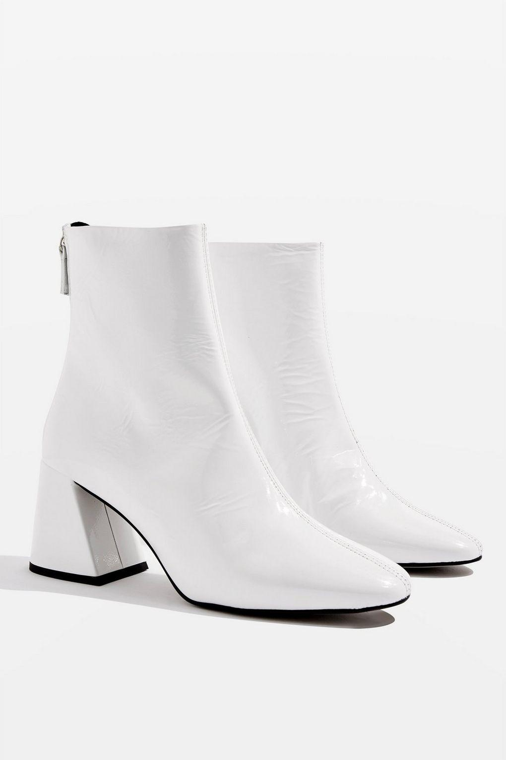 TOPSHOP Leather Marbella Ankle Boots in