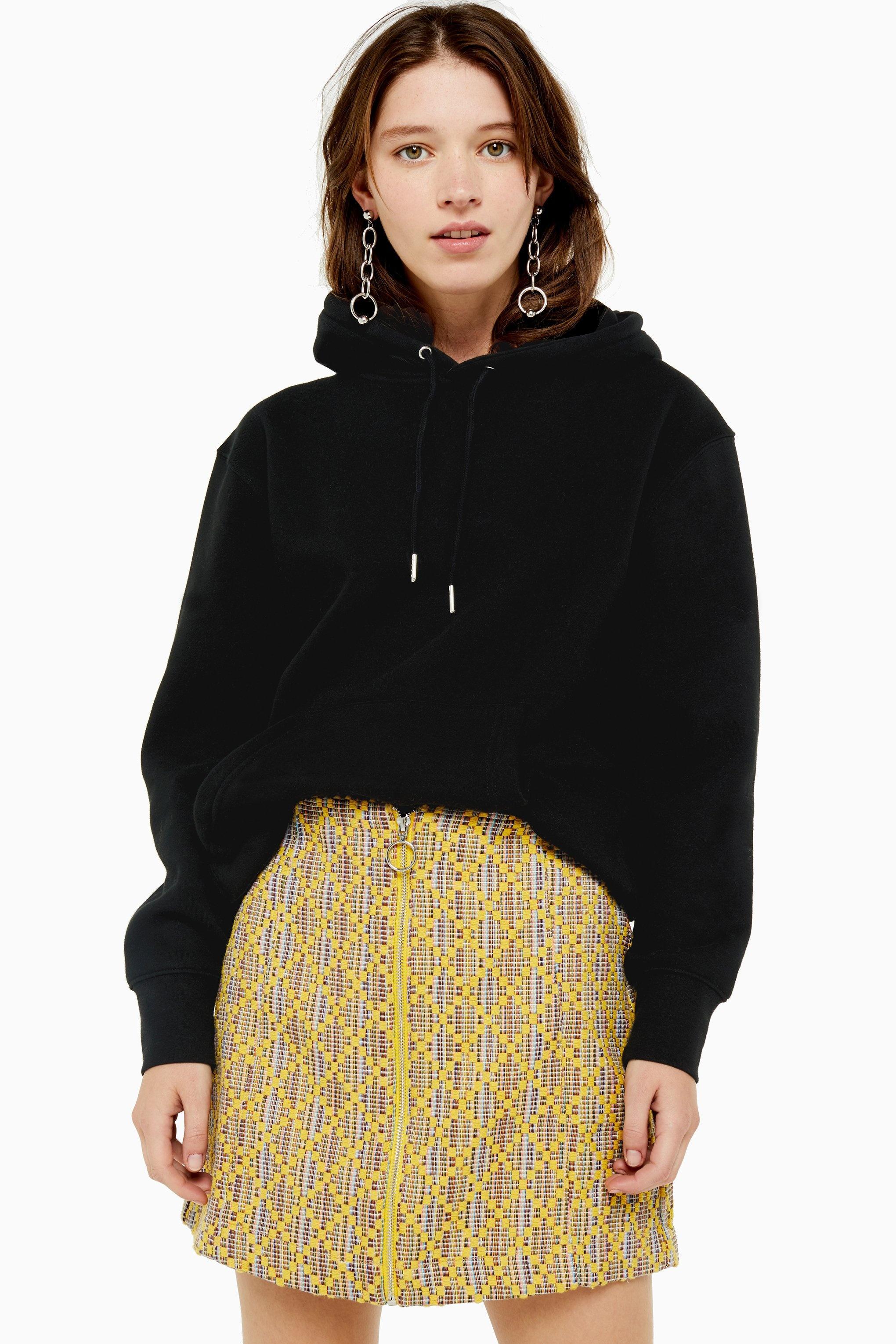 Mini jupe en tissu bouclé doré en Synthétique TOPSHOP