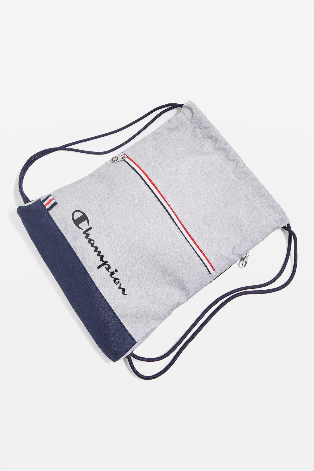 Champion Synthetic Drawstring Backpack By in Grey (Grey)