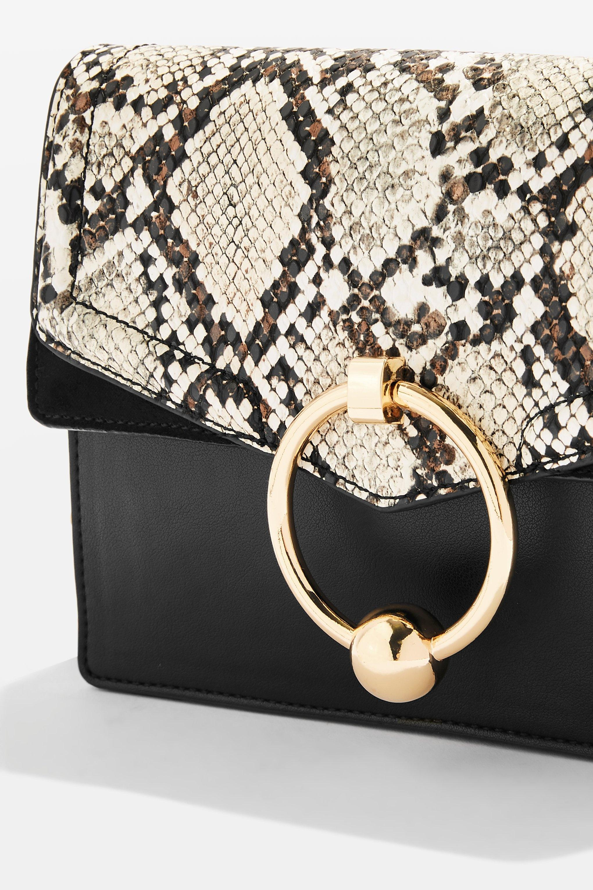 a53edbfcc340 Lyst - TOPSHOP Selina Snake Crossbody Bag in White