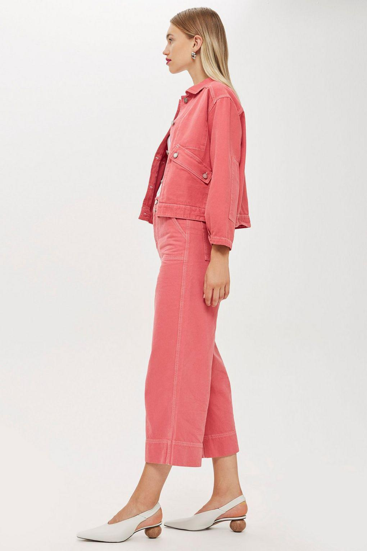 TOPSHOP Pink Denim Culotte Jeans By Boutique