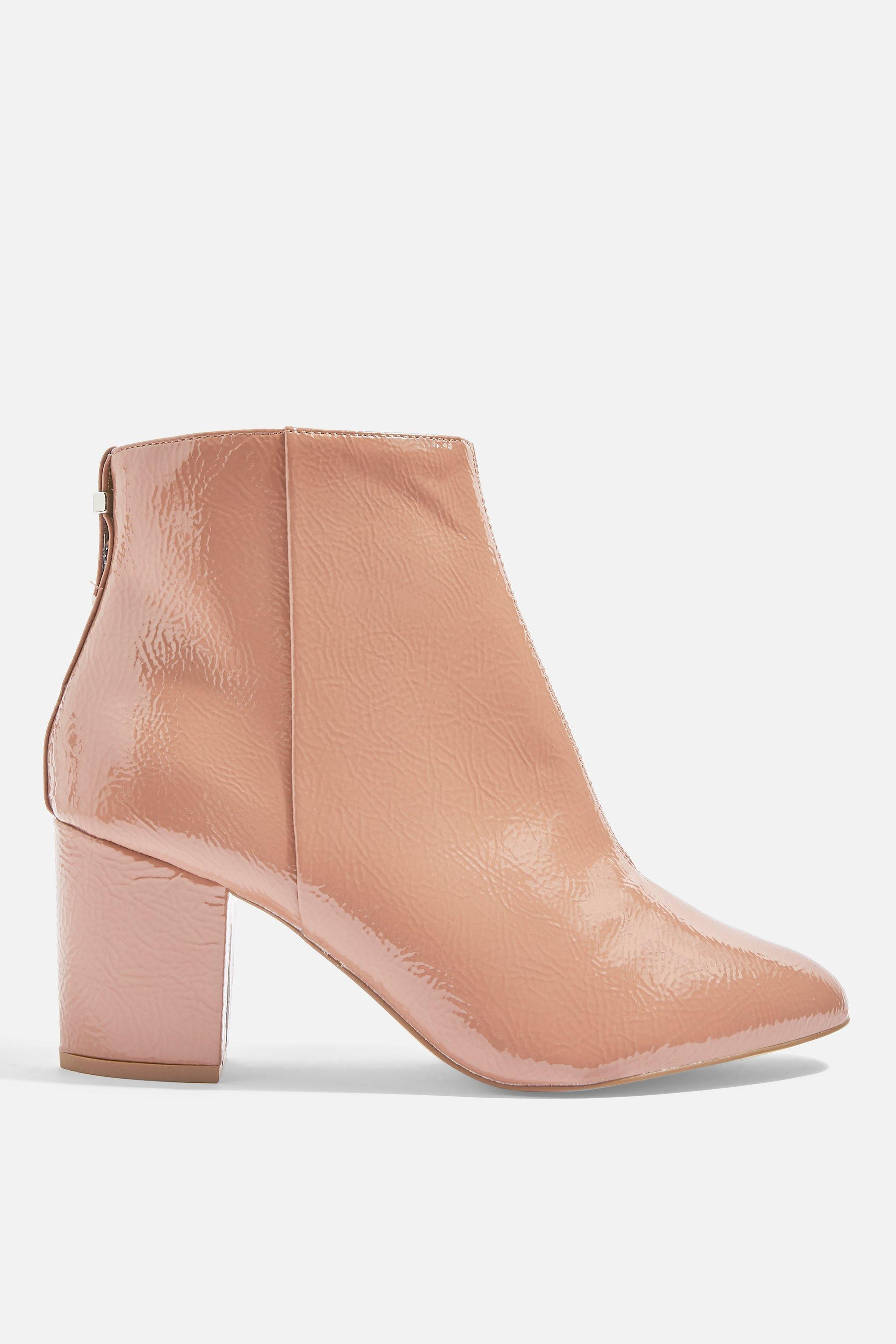 b80a70696870 Lyst - TOPSHOP wide Fit Brooklyn Ankle Boots in Natural - Save ...
