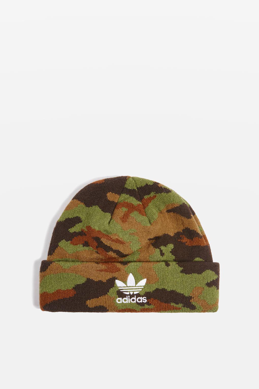 816cee941 Adidas Originals Green Camouflage Beanie Hat By