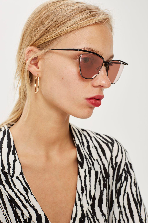 TOPSHOP Metal Cat Eye Sunglasses