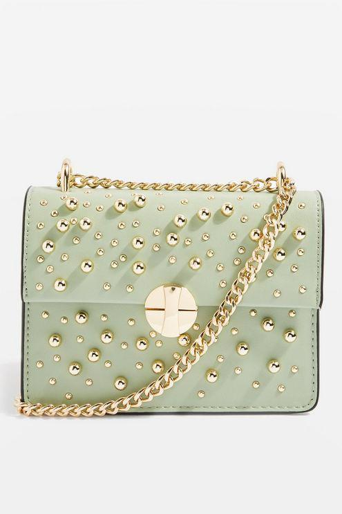 TOPSHOP Leather Betty Ball Cross Body Bag