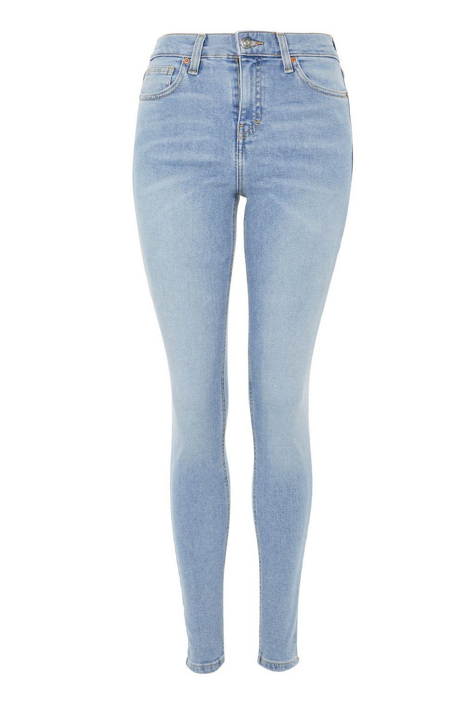 TOPSHOP Denim Bleach Jamie Jeans in Bleach Denim (Blue)