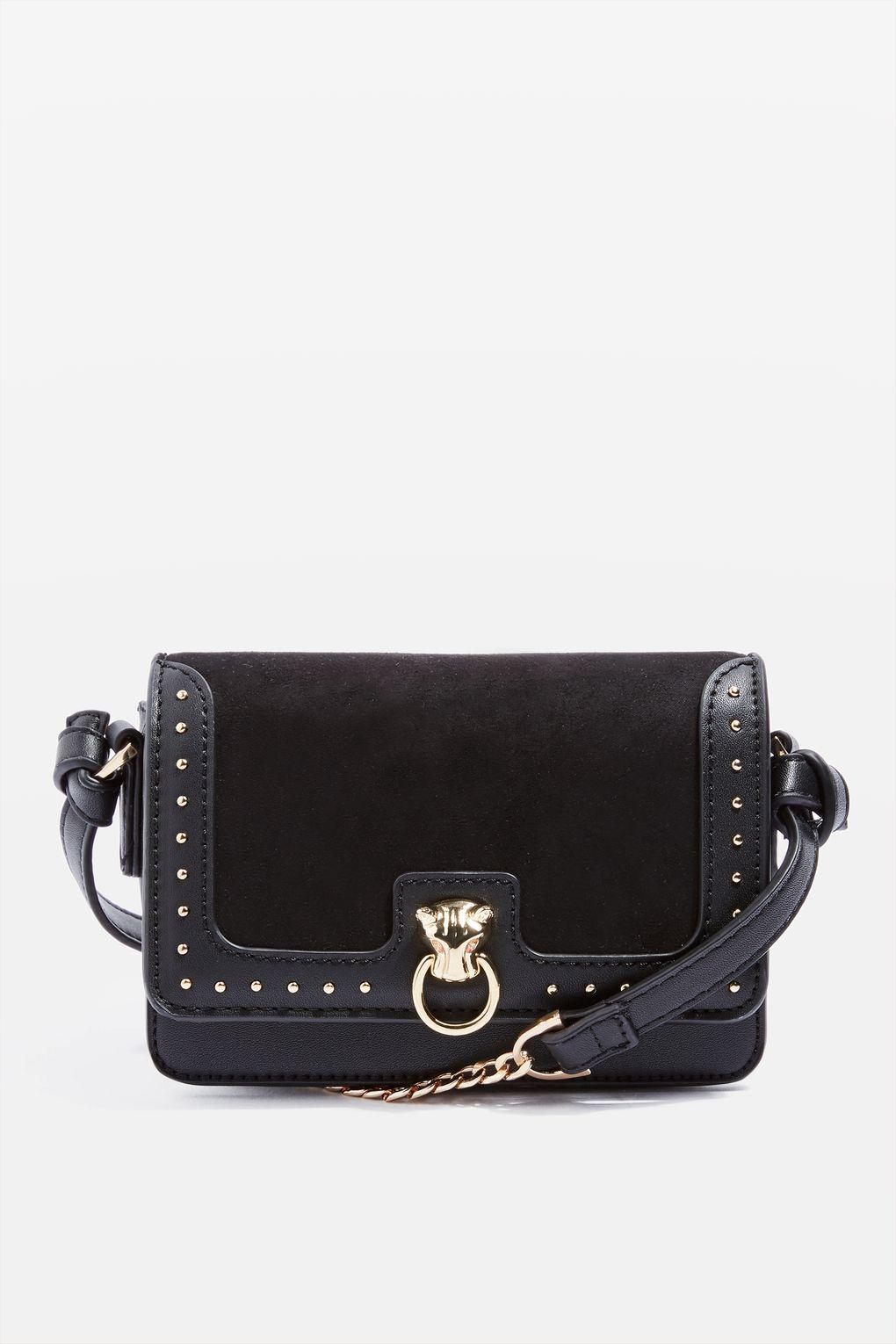 TOPSHOP Synthetic Panther Cross Body Bag in Black