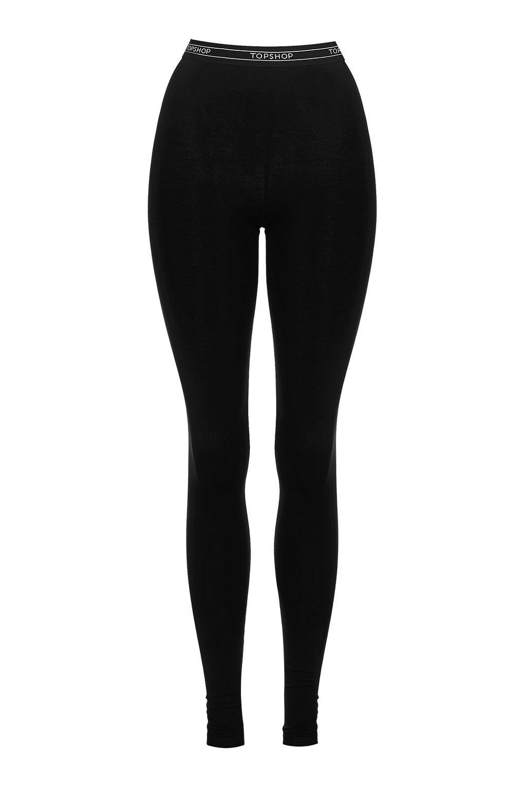 TOPSHOP Synthetic Tall Branded Leggings in Black