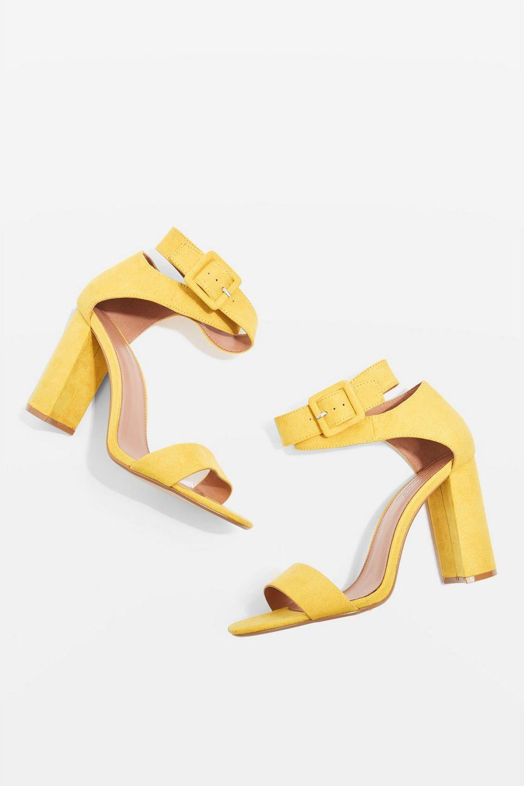 25a16ae7052 TOPSHOP Yellow Wide Fit Sinitta Two Part Sandals