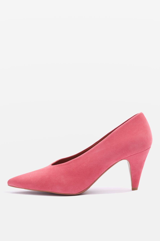 Jessie V-cut Mid Heel Court Shoes