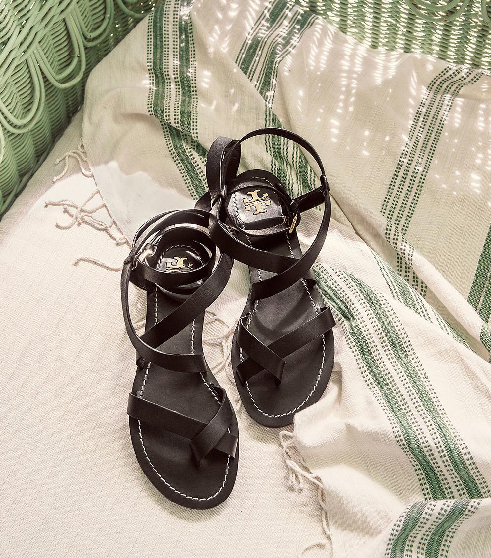 940b8177449a Lyst - Tory Burch Patos Sandal in Black