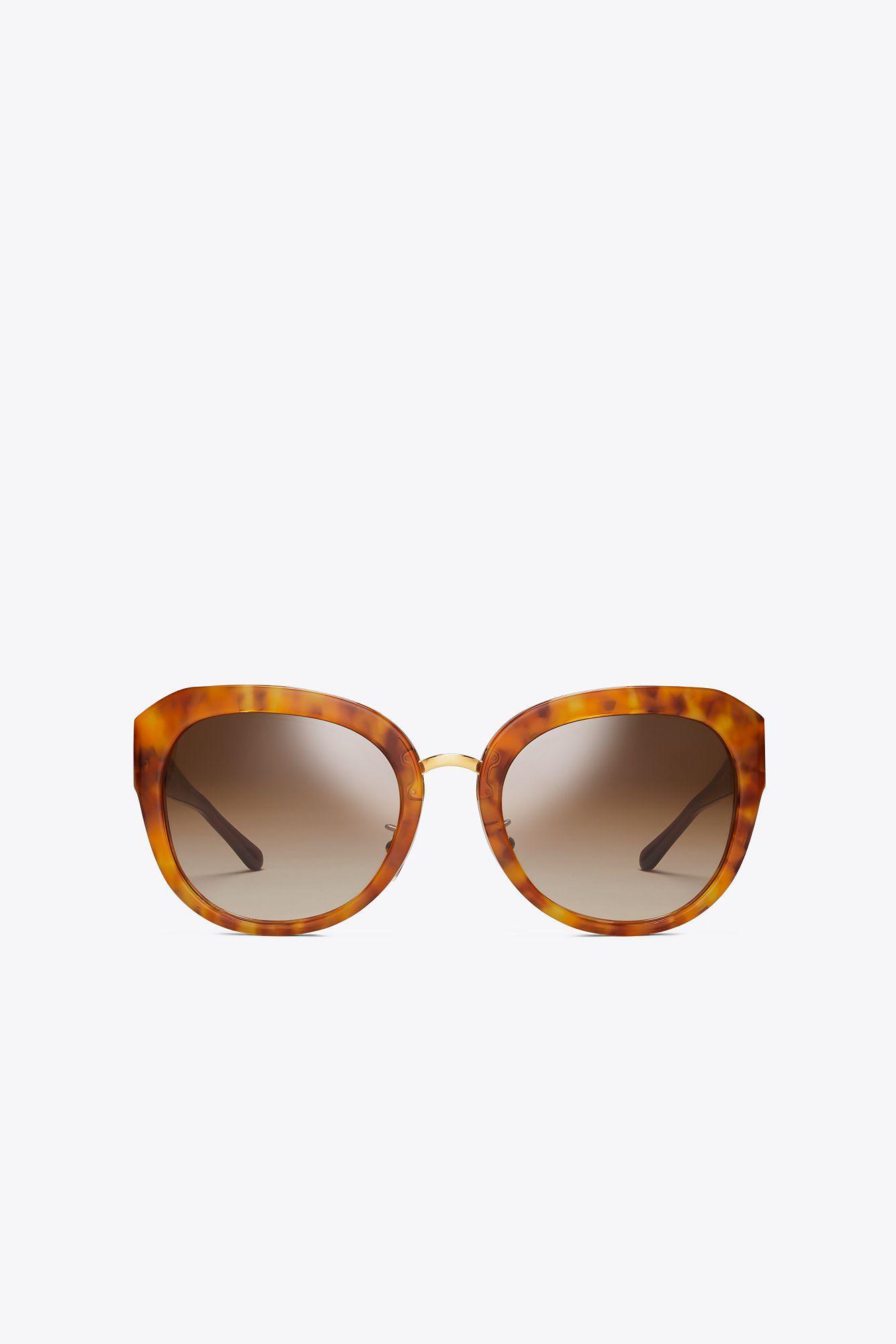 18edb23e3ff6 Lyst - Tory Burch 3 Piece Logo Irregular | 212 | Sunglasses in Brown