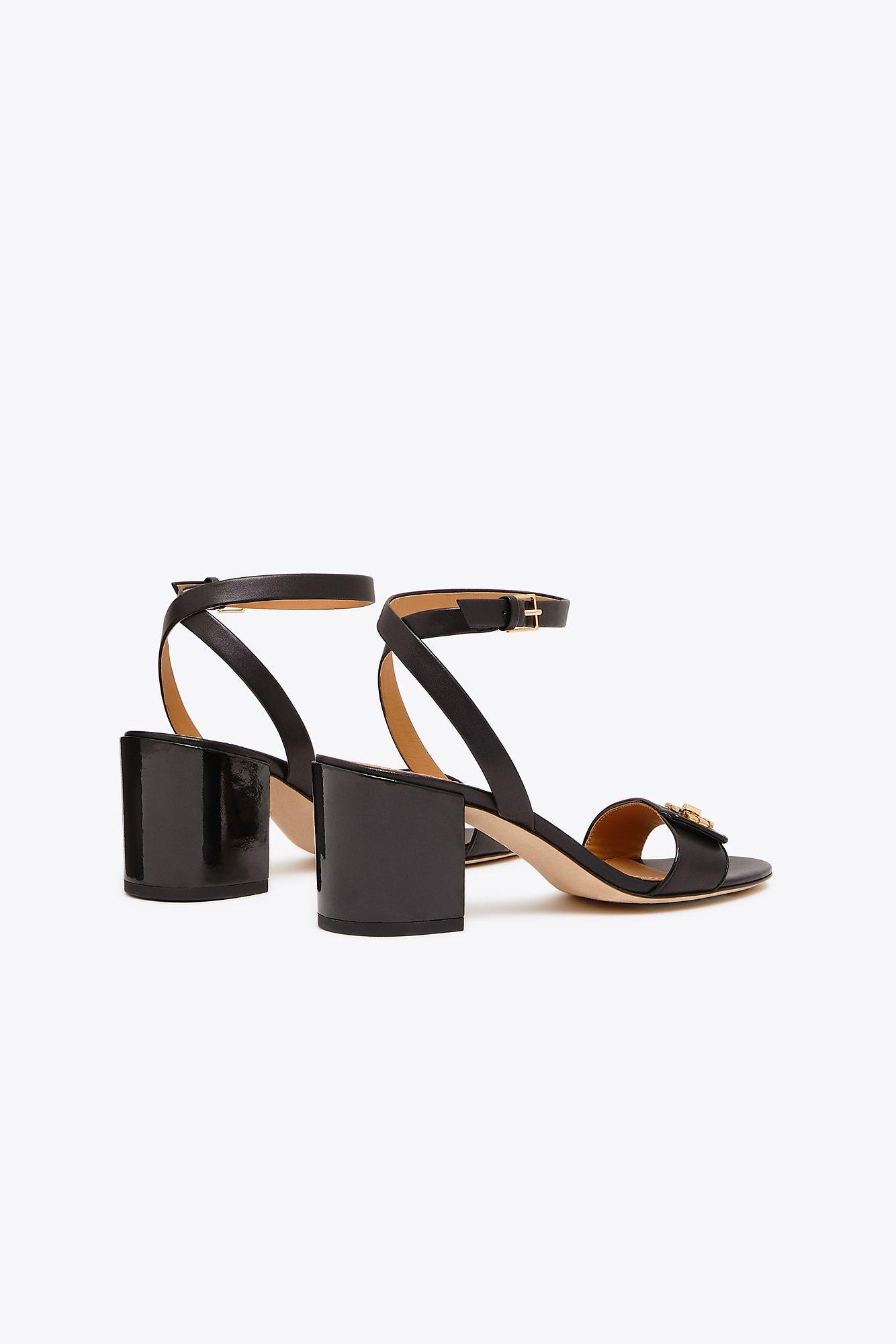 fe391789df6c52 Tory Burch - Black Women s Kira Block Heel Sandals - Lyst. View fullscreen